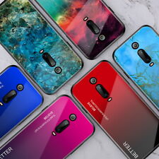 Gradient Glass Hard Case Cover For Xiaomi Redmi K20 Mi 9T Note 7 Pro A3 Lite CC9