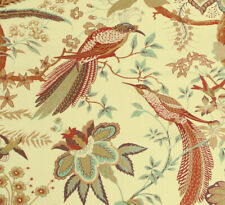 "SANDERSON ""Suva"" Cotton interiors fabric REMNANTS Birds"