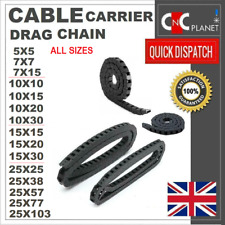 CABLE CARRIER DRAG CHAIN TRACK 7X7mm 10x10mm 10x20mm 10x30mm 10x15mm 15 x30mm UK