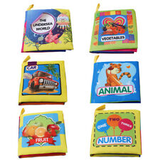 Intelligence Development Cloth Books Bed Cognize Baby Kids Early Educational Toy