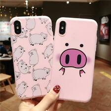 Ottwn Phone Case For iPhone XS Max XR 7 8 6 6s Plus Cartoon Cute Pig Animal For