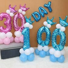 1set Blue Pink Number Foil Balloons Happy Birthday Party Decoration Kids Boy