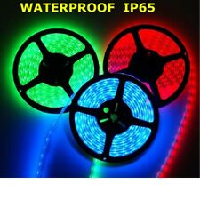 LED STRIP SINGLE COLOUR FLEXIBLE 3528 SMD LIGHTS 5M cuttable IP65 + 12V CHARGER