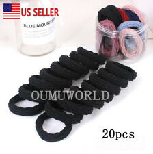 Seamless Hair Bands Elastic Stretch Rope Soft Thick Ponytail Holders Women 20 pc