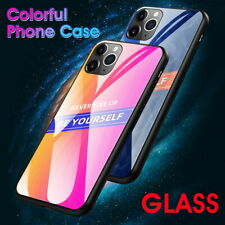 For iPhone 11 Pro XS Max XR 8 7 Plus Fashion Hot Tempered Glass Back Case Cover