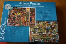 Marks & Spencers Jigsaw (2 x 500 piece jigsaws) Ludicrous Library & The Kitchen