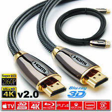0.5M/1M/1.5M/2M-10M PREMIUM HDMI Cable v2.0 High Speed 4K UltraHD 2160p 3D Lead