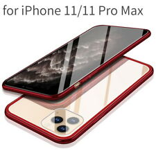 Tempered Glass Cover Clear Hard Back Case For iPhone 11 Pro Max XS XR X 7 8 Plus