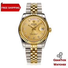 Men's Day-Date DateJust Homage Watch Quartz Double Calendar Stainless Steel Band
