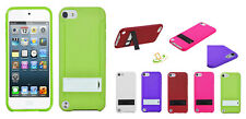 Apple New iPod Touch 7 6 5th Gen Hybrid Rubber TPU Protective Case Cover Stand