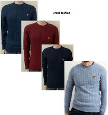 LYLE AND SCOTT LONG SLEEVE WINTER CABLE KNIT JUMPER FOR MEN