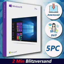 Windows 7/8.1/10 Professional 1/5PC - 32 & 64 Bits - 2min Versand per EMail