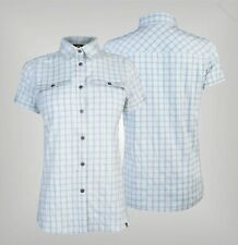 Ladies Eastern Mountain Sports Plaid Short Sleeve Shirt Top Sizes from S to XL