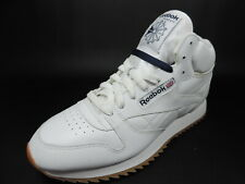 Reebok Classic Leather 059503 813 Mens Basketball Sneaker Shoes White/Blue/Gum