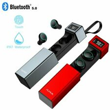 New HiFi True Wireless Headphones iOS Android Bluetooth Earbuds Charging Case