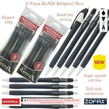 NATARAJ Retrax 0.7mm BLACK Super Smooth Retractable Ballpoint Pens Fine Writing