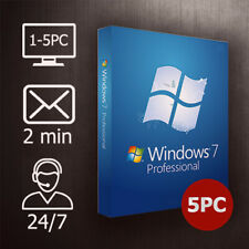 Windows 7 Pro/Home/Ultimate - 1-5 PC / 32&64 Bit / ESD Versand per Email