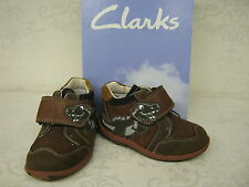 Boys SALE Clarks Saurus Rex Fst Brown Leather Dinosaur Ankle Boots