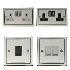 G&H Trimline Plate Polished Chrome Light Switches & Dimmers & Plug Sockets