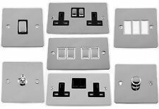G&H Flat Plate Polished Chrome Light Switches, Plug Sockets & Dimmer Switches