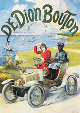Di Dion Bouton Vintage Car print picture poster A1
