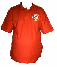 WALES GRAND SLAM WINNERS 2012  POLO SHIRT NEW EMBROIDED S M L XL XXL UNIQUE RED