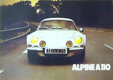 Renault Alpine A110 White Berlinette Classic Car Poster Prints Picture A1