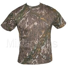MILITARY MOSSY OAK CAMOUFLAGE CAMO T SHIRT US ARMY 100% COTTON