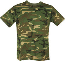 Military Army T Shirt US Woodland Camoflage DPM SAS NEW 100% COTTON