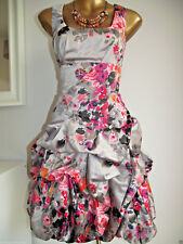 MONSOON CARMEL MINK PINK RED FLORAL BOUQUET SUMMER WEDDING PROM PARTY DRESS 8-20