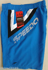 "Brand New Mens Speedo Waveturn 18"" Water Shorts Swim Blue / White Watershorts"