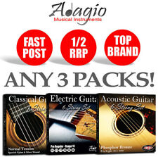 3 PACKS - Adagio Electric or Acoustic Guitar Strings - Pro and Premium AntiRust
