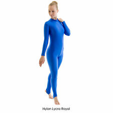 Ladies Polo Turtle Neck Long Sleeve Dance Catsuit Shiny Nylon Lycra Adult  GEOR 3cbbf95b4