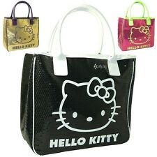 Official Hello Kitty Camomilla Designer Shoulder Hand Bag with Sequins Gift GANG