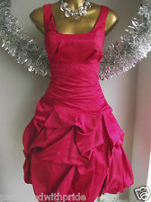 MONSOON RED CARMEL RUFFLE PARTY COCKTAIL PROM PARTY DRESS SPRING SUMMER WEDDING!