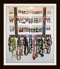 "Earring/Jewelry Holder MINI GG Holds 51 Pair ""PICK A FABRIC"" Mounts on Wall HOT"