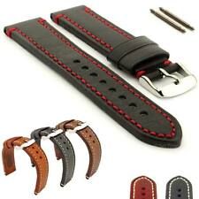 Men's Two-Piece Genuine Leather Watch Strap Band Catalonia 18mm 20mm 22mm 24mm
