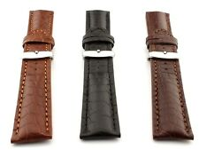 Genuine Crocodile Leather Watch Strap Band Mississippi SS. Buckle Spring Bars