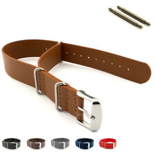 Nato Watch Strap Band Genuine Leather Military G10 MoD SS. Buckle Spring Bars