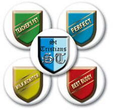 Pack of 5 St Tristians School Pin Badges for Fancy Dress School Boy Outfits