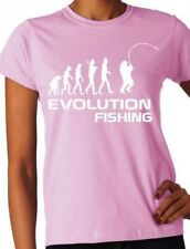 Evolution Of Fishing  Sport Ladies T Shirt Gift Size S-XXL