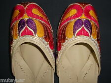 PHULKARI WORK hand made punjabi jutti shoes bridal wear embroidered  PJ9705