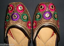 PHULKARI WORK hand made punjabi jutti shoes bridal wear embroidered  PJ9707