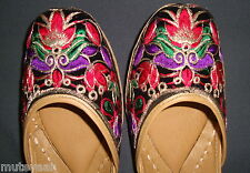 PHULKARI WORK hand made punjabi jutti shoes bridal wear embroidered  PJ9708