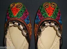 PHULKARI WORK hand made punjabi jutti shoes bridal wear embroidered  PJ9709