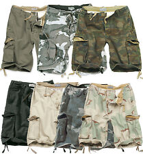 SURPLUS VINTAGE MENS SHORTS MILITARY STYLE ARMY CARGO  COMBAT 100% WASHED COTTON