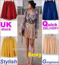 Sexy Waist Flared Ladies Girls Women's Hot Skirt Pant Chiffon Summer Colors Size
