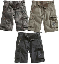 SURPLUS XYLONTUM VINTAGE SHORTS ARMY STYLE COMBAT MENS CARGO COTTON BLACK URBAN