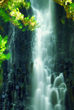 Close-up of a waterfall Costa Rica landscape PHOTO WALL ART CANVAS PRINT PICTURE