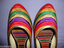 Thread Embroidered hand made punjabi jutti shoes bridal wear PJ9710